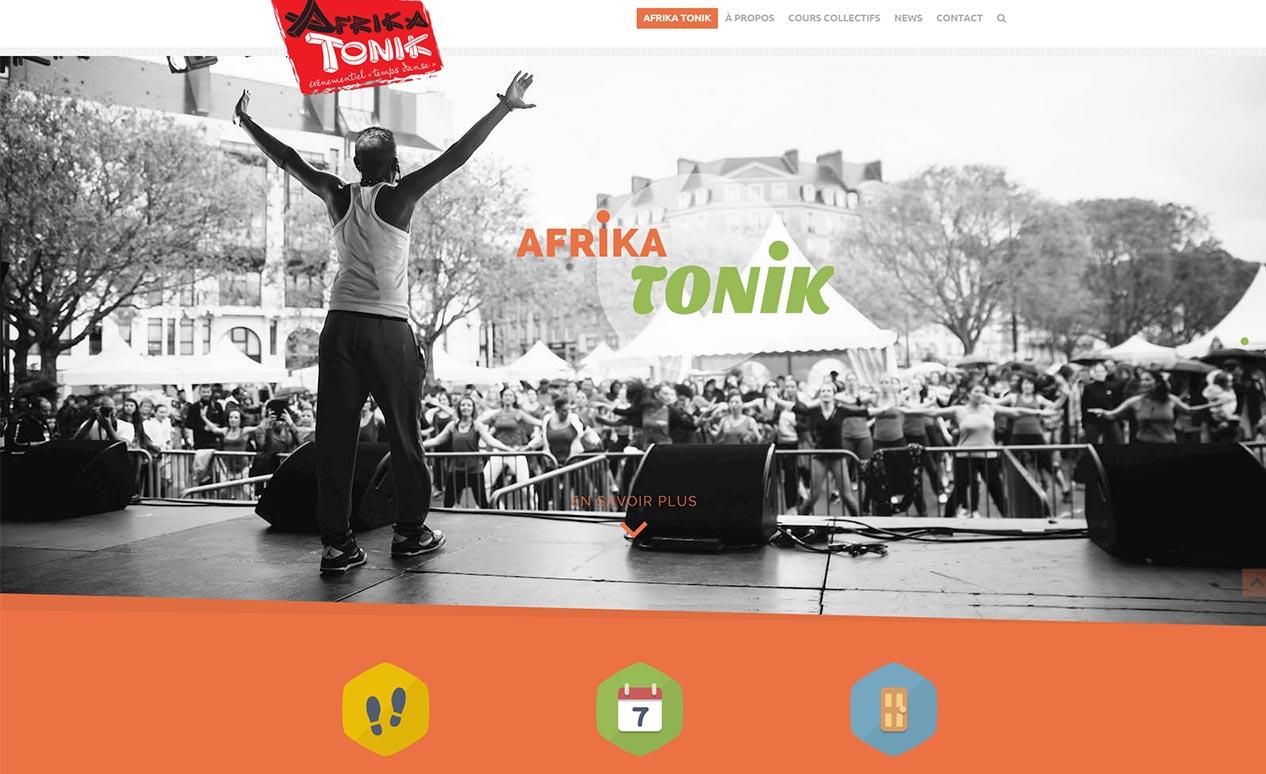 """Nouveau site web pour """"Afrika Tonik"""""""