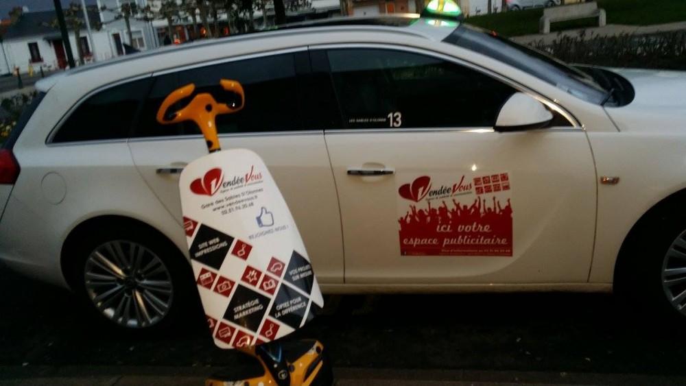 La campagne est lancée sur les taxis des Olonnes !!!