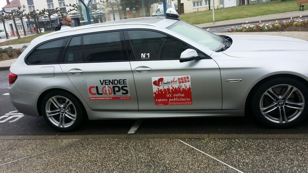 Vendée Clops lance sa campagne publicitaire sur les taxis des Olonnes !!!