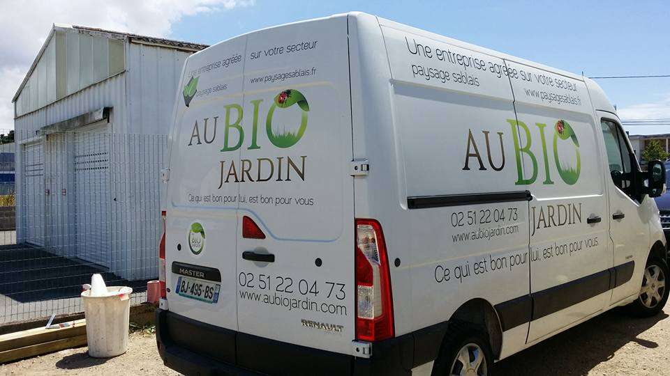 marquage vehicule au bio jardin