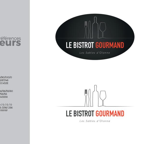 Logo chartre graphique Au Bistrot gourmand
