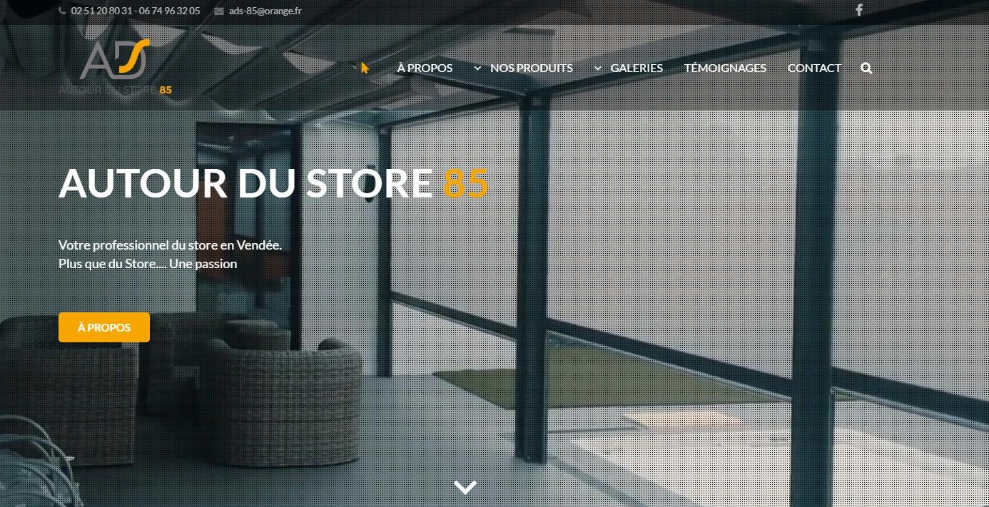 autour du store 85 vend e vous agence de communication en vend e. Black Bedroom Furniture Sets. Home Design Ideas