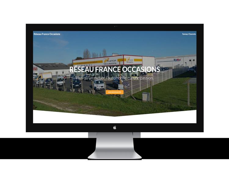 Création de site internet en Vendée pour France occasion