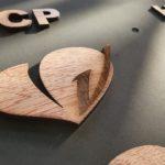 enseigne volume en bois vendée